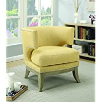 Coaster Home Furnishings 902562 Accent Chair, NULL, Bumblebee Yellow