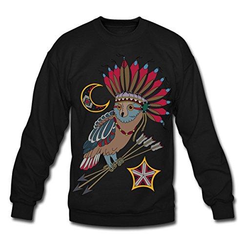 Spreadshirt Native American Owl Arrows Crewneck Sweatshirt, 3XL, ()