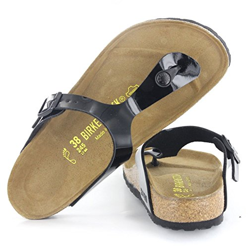 Birkenstock Women's GIzeh Thong Sandal, Black Patent, 38 M EU/7-7.5 B(M) US by Birkenstock (Image #17)