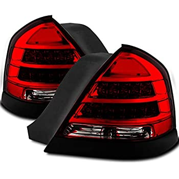 Xtune   Crown Victoria Red Clear Led Performance Tail Lights Upgrade Pi Style Pair Lr