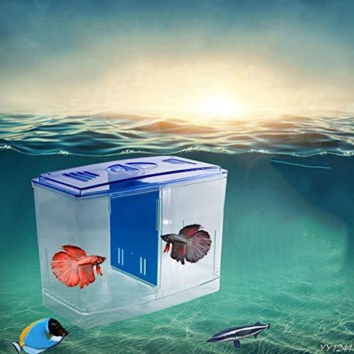 Pukido Aquarium Incubator Fish Tank Clear Separative Box Breeding Feeding Hatchery Case W110, Size: M