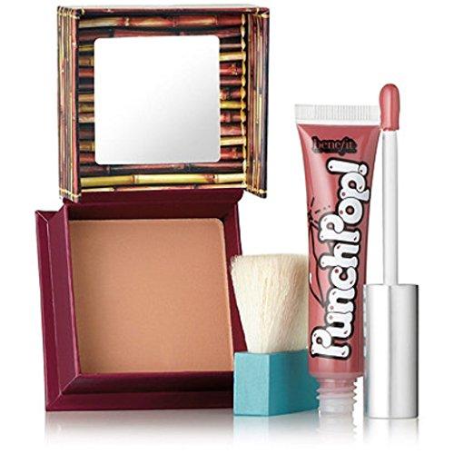 Benefit Hoola Matte Bronzer And Punch Pop Liquid Lip Color in Pink Berry