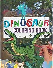 "Dinosaur: Coloring books for kids ages 4-8, Great Gift for Boys & Girls, Creative edge dinosaur outline Coloring Pages, 8.5x11"" 100 Pages Dinosaur coloring books Lover"