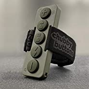 Chubby Buttons 2- Wearable & Stickable Bluetooth 5.1 Remote for iPhone & Android   Big Buttons for Glo