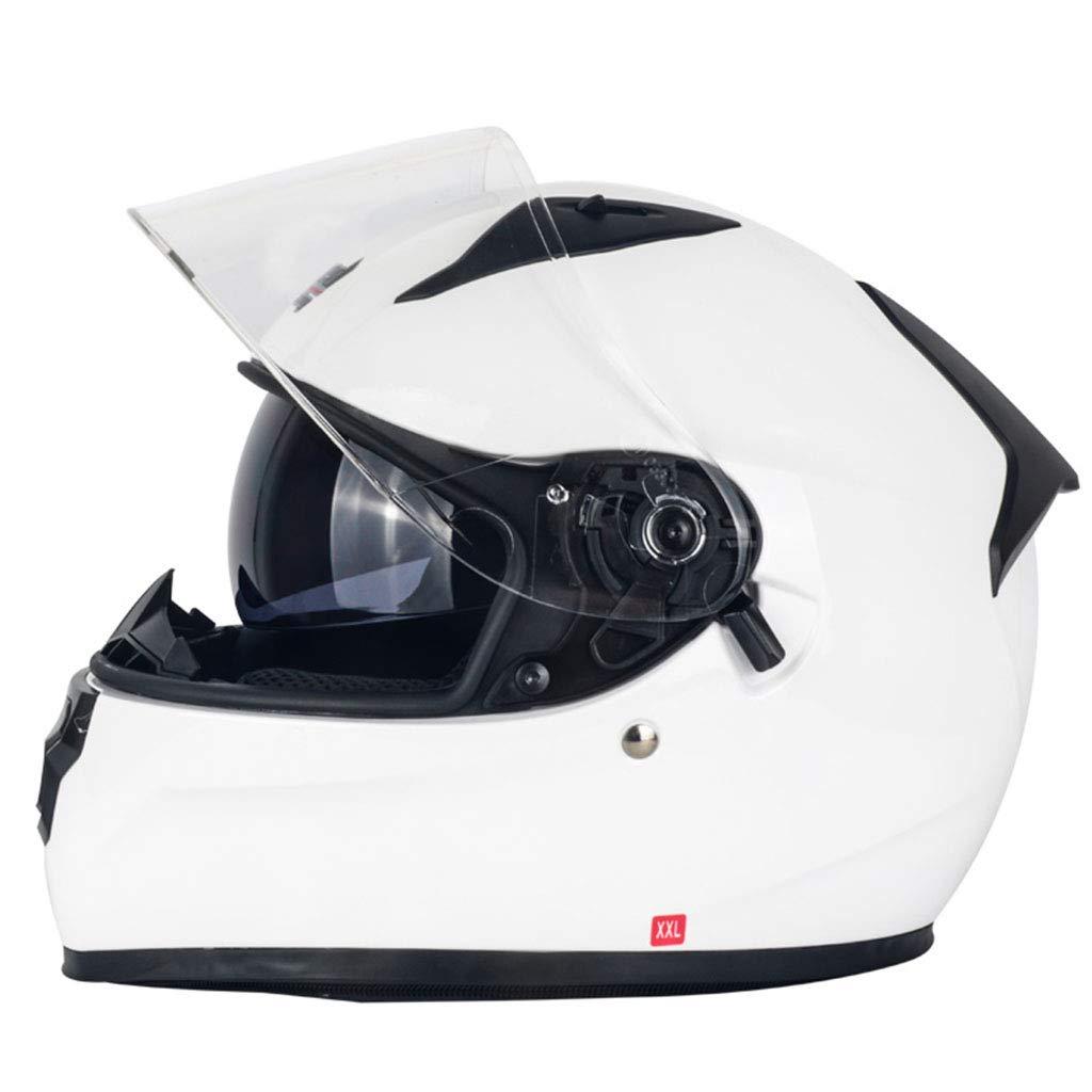 ヘルメット ヘルメット - ダブルレンズヘルメットフォーシーズンズパーソナリティーアンチフォグウォームヘルメット (色 : A, サイズ さいず : XXL) B07HNXBBRG  A XX-Large