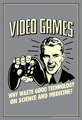 te Technology On Science Retro Humor Poster 24x36 inch ()