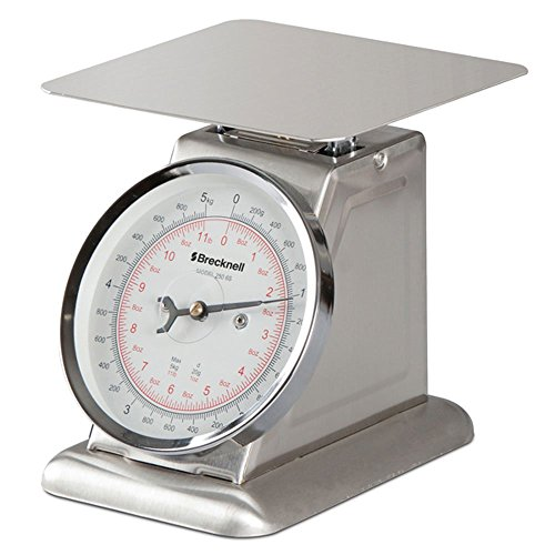 Salter-Brecknell 250-6S 250 Series Stainless Steel Portion Control Mechanical Top Load Scale with Dial Display, 6-1/4