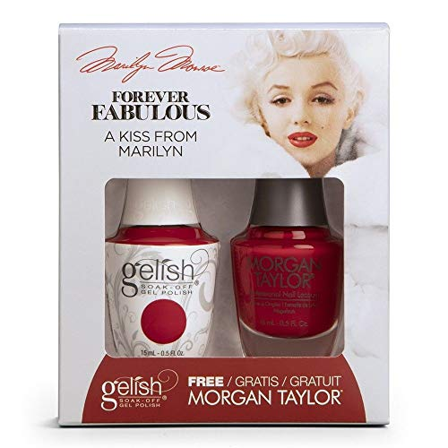 重量成功先史時代のHarmony Gelish & Morgan Taylor - Two Of A Kind - Forever Fabulous Marilyn Monroe - A Kiss From Marilyn - 15 mL / 0.5 Oz