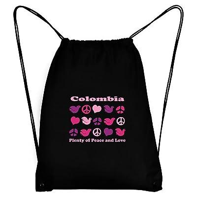 Teeburon Colombia PLENTY OF PEACE AND LOVE Sport Bag
