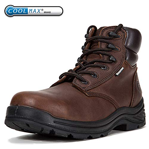 ROCKROOSTER Men's Work Boots, Composite Toe, Safety Water Resistant Leather, Women Shoes, EEE-Wide (AT697, US 11)