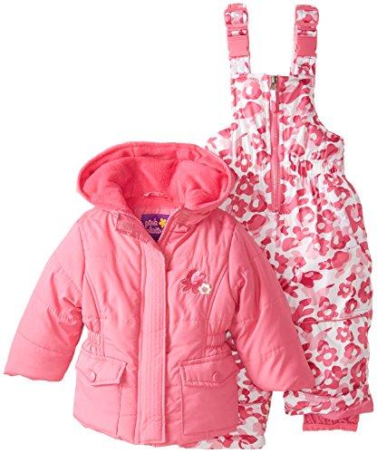 Pink Platinum Baby Girls' Camo Snowsuit Set