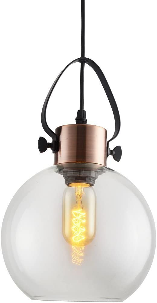 MSTAR Kitchen Pendant Lights, E26 Bedsides Ceiling Hanging Lighting with Clear Glass Shade