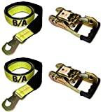BA Products 38-3D-x2, 38-82-x2, Set of Two Straps & Two Gradual Release Ratchet for Dynamic, Century, Vulcan Auto Loader Wheel Lifts