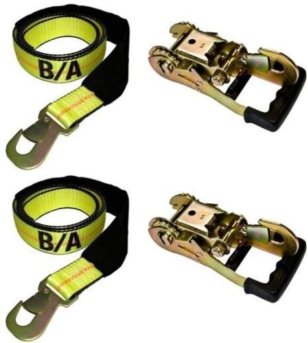 BA Products 38-3D-x2, 38-82-x2, Set of Two Straps & Two Gradual Release Ratchet for Dynamic, Century, Vulcan Auto Loader Wheel Lifts by BA Products