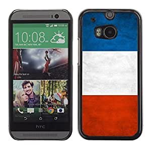 Shell-Star ( National Flag Series-France ) Snap On Hard Protective Case For All New HTC One (M8)