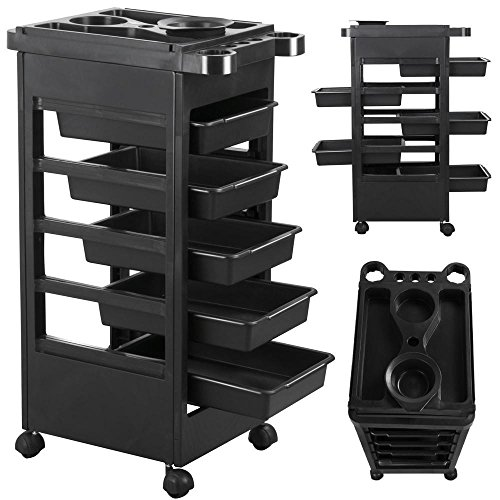 World Pride Hair Salon Trolley Storage Tray Cart Home Spa Hairdressing Trolley