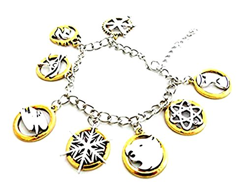 Athena Brands Legends of Tomorrow Character Logo Charm Bracelet Quality Cosplay Jewelry DC Comics Movie Cartoon Series with Gift Box]()