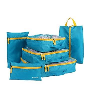 Equipaje bolsas set 6pcs mejoy de grosor de viaje bolsas de ...