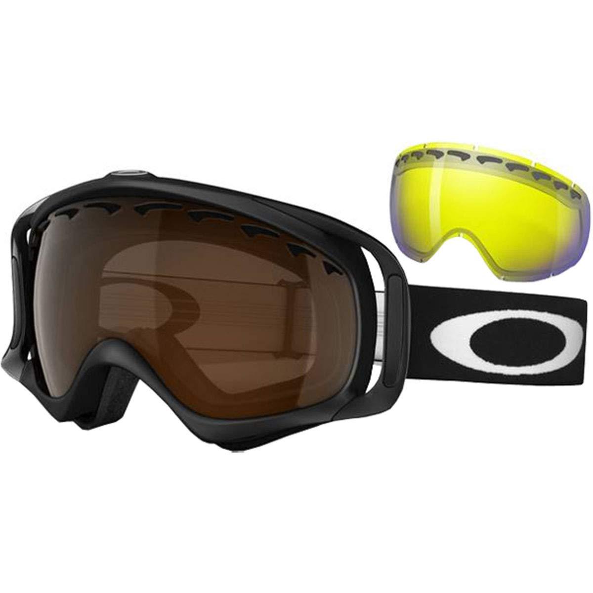 979e7067044 Amazon.com  Oakley Crowbar Matte Adult Snowmobile Goggles - Black ...