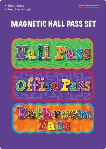 Dowling Magnets Magnetic Hall Pass Set (Pass Set)