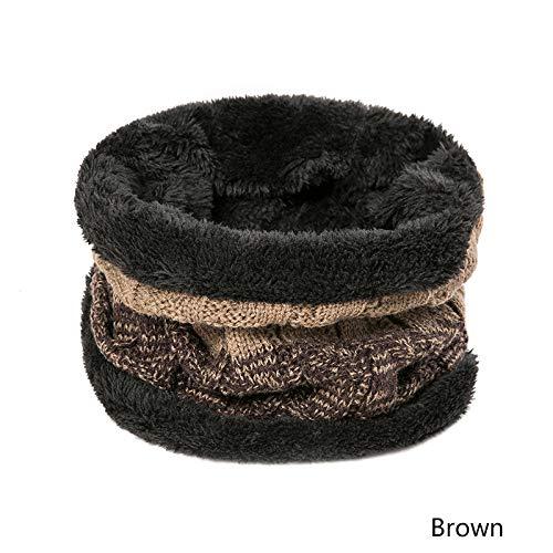 OUOCMZ Sombrero/Sombrero De Los Hombres Gorro De Punto Grueso Cap Hombre Patchwork Moda Otoño Invierno Sombreros Capó H