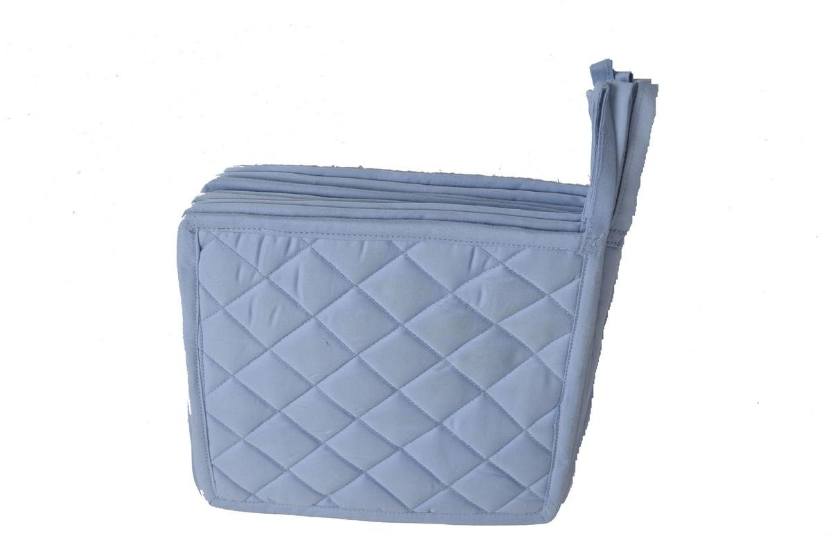 HM Covers Pot Holders 100% Cotton (Pack Of 10) Pot Holder 7'' x 7'' Square, Solid Light Blue Color Everyday Quality Kitchen Cooking, Heat Resistance!!
