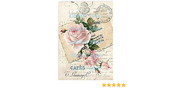 A4 // 20x25 cm Total 3 Sheets Paper for decoupage Vintage Style
