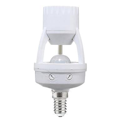Pinzhi E27 / B22 à E14 / E27 PIR Détecteur De Mouvement à Induction Socket Switch Ampoule Holder