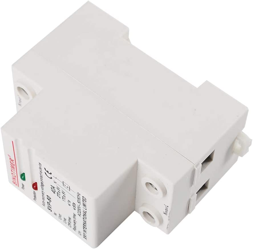 AKDSteel 220V Single-Phase Automatic Recovery Reconnect Over Under Voltage Relay Protective Device Breaker Voltage Protector