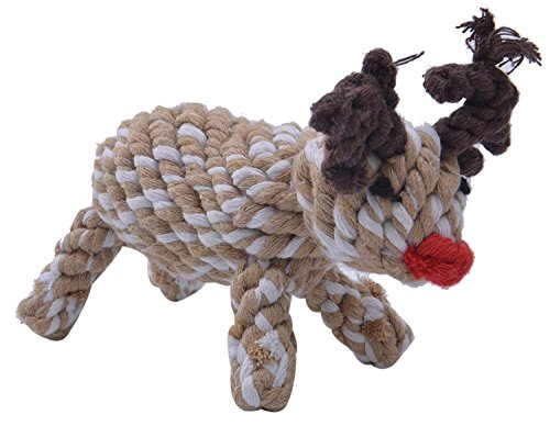 KOOLTAIL Christmas Reindeer Dog Rope Toy Chew Toys for Puppy