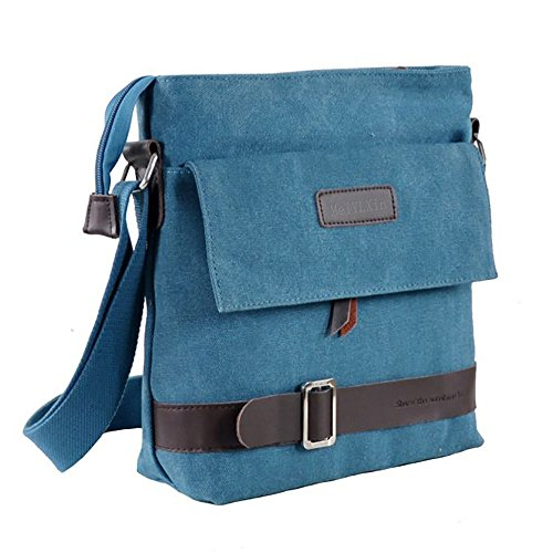 Mfeo Unisex Lightweight Canvas Outdoor Travel Small Crossbody Shoulder Bag