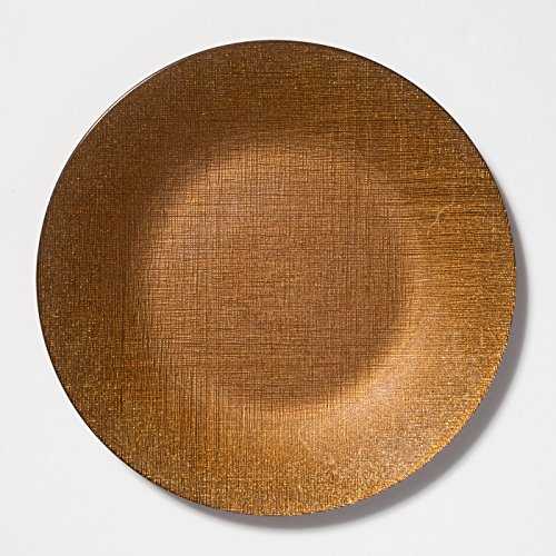 - Vietri Glitter Glass Copper Service Plate/Charger