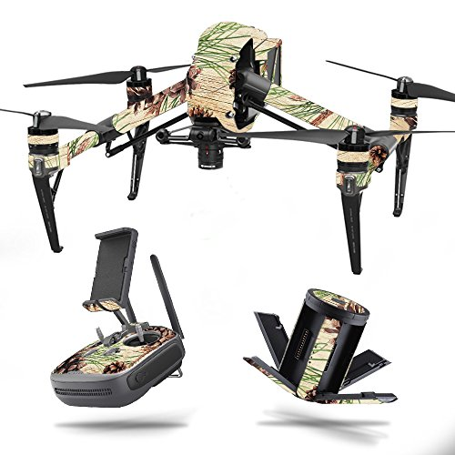 Skin for DJI Inspire 2 - Pine Collage| MightySkins Protective, Durable, and Unique Vinyl Decal wrap cover | Easy To Apply, Remove, and Change Styles | Made in the USA (Spot Pinecone)