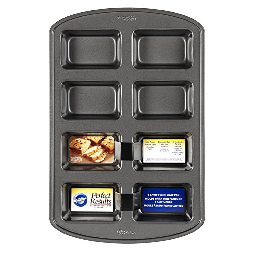 Wilton Perfect Results Non-Stick Mini Loaf Pan, 8-Cavity by Wilton (Image #1)