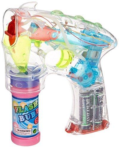 Rhode Island Novelty - Light-Up LED Transparent Bubble Gun -