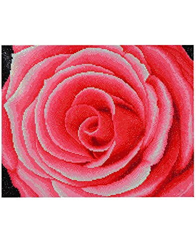TINMI Arts 5D DIY Diamond Painting Flowers Kits for Adults Full Drill Cross Stitch Pink Rose Paste Rhinestone Embroidery Home Wall Decor 23.6×19.6 inch(60×50CM) A9261