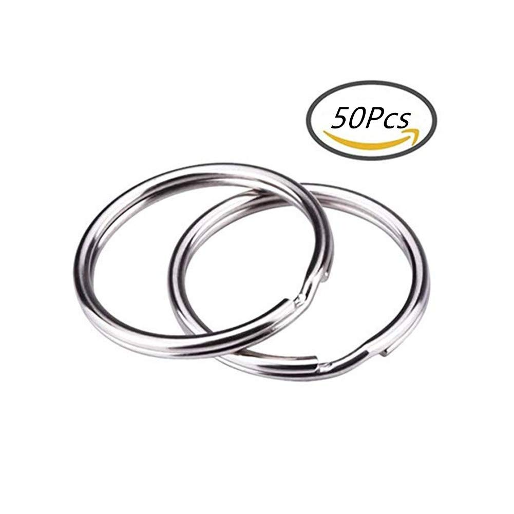 15 mm Suneste 15mm 50 Unidades Manualidades y Llaves del hogar 25 mm Llavero Redondo de Metal con Anillas divididas para conectar Joyas