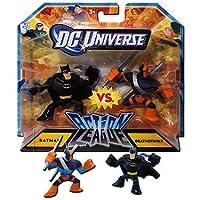 DC Universe - Paquete de 2 unidades de 2 pulgadas de la Liga de acción - Batman vs. Deathstroke de DC Comics
