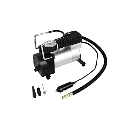 Amazon.com: HJJH Air Compressor Pump 12V Electric Portable Digital Tire Inflator with Extra Nozzle Adaptors for Car Bike Tires and Other Automobiles: ...