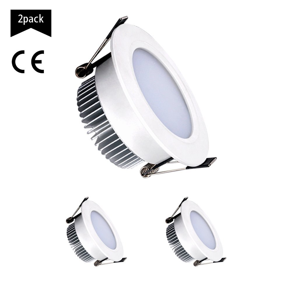 Down Light Fixture, 2.5 Inch LED Downlight, LED Recessed Lighting Fixture Ceiling Light (Black, 5w)