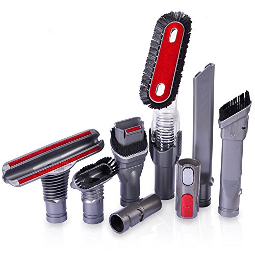 KEEPOW 8 Pack Cleaning Tools Vacuum Brush Attachments Replacement for Dyson V7, V8, V10 Cordless Vacuum Cleaner Parts ()