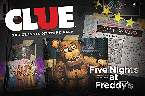 USAOPOLY Clue Five Nights at Freddy's Board Game | Based on Five Nights at Freddy's Video Game | Officially Licensed Five Nights at Freddy's Merchandise | Themed Classic Clue ()