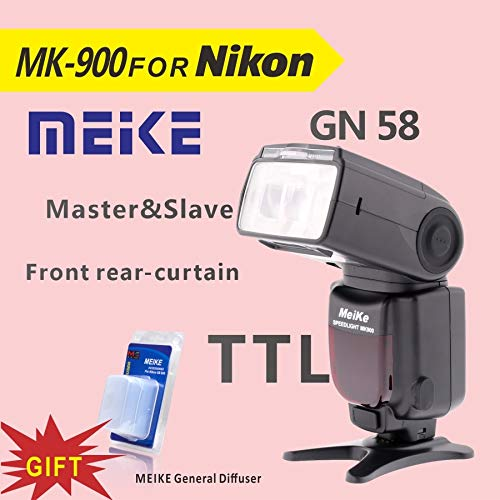 HAMISS Meike MK900 TTL Camera Flash Speedlite for Nikon SB 900 D7100 D7000 D5100 D5200 D5000 D800 D600 D90 D80+Diffuser