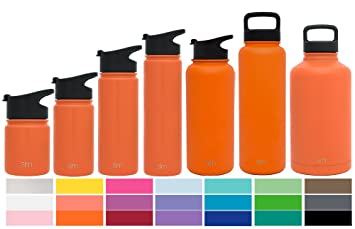 Simple Modern 14oz Summit Waterbottle + Extra Lid   Vacuum Insulated Double  Wall Keeps Hot U0026