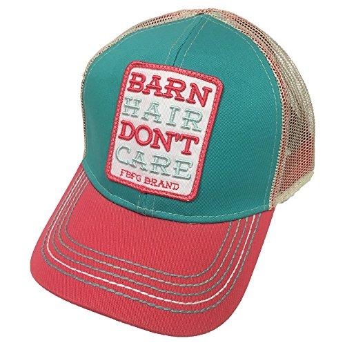 Farm Boy Brand Barn Hair Don't Care Tuquoise Youth Snapback Hat - F83088303TQ0ML by Farm Boy (Image #1)