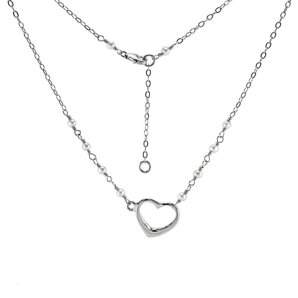 CloseoutWarehouse Sterling Silver Fancy Heart Pendant