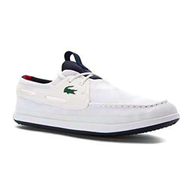 bbb71e6ff1a83 Lacoste Men s Shoes Landsailing 316 Boat Shoe 7.5 M White  Amazon.co ...