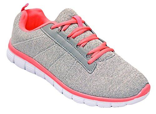 Shop Pretty Girl Damen Turnschuhe Athletisch Knit Mesh Running Light Weight Gehen Einfach Walking Casual Komfort Laufschuhe 2,0 Koralle