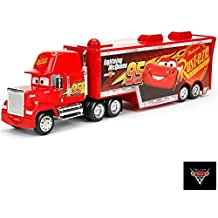 Disney Pixar Mack Lighting McQueen 95 Piston Cup Trailer Holds 2 Vehicles