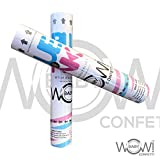 Baby Gender Reveal Party Confetti - Cannons, Poppers, Sex Reveal Party - Team Pink GIRL - Set of 2, Girl (PINK)